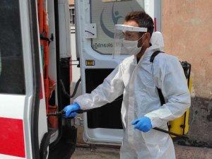 Hakkari'de ambulanslar dezenfektan edildi
