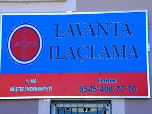 Lavanta ilaçlama hizmete açıldı