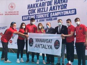 Rafting Şampiyonasına Manavgat damgası