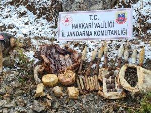 Yüksekova'da çok sayıda mühimmat ele geçirildi