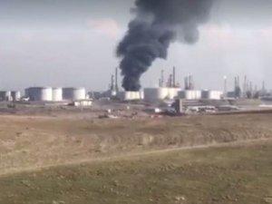 Erbil'de rafineri yangını: 3 ölü