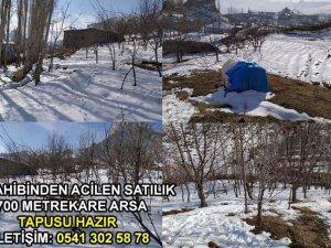 Hakkari'de tapusu hazır satılık arsa