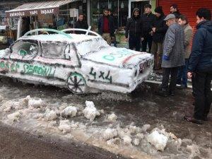 Esnaf kardan otomobil yaptı!