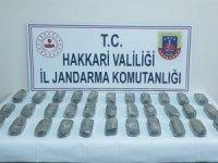 Yüksekova kırsalında 15 kilo eroin ele geçirildi