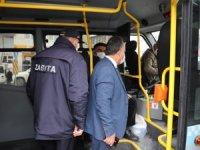 Hakkari'de şehir içi servisler denetlendi