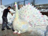 Kardan 'tavus kuşu' yaptılar
