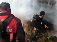 Çıkan yangına itfaiye ekibi müdahale etti