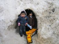 Üzümcü köyündeki çocukların tünel sevinci