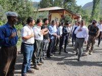 Vali Akbıyık, sınır ilçelerde incelemelerde bulundu