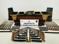 110 adet av tüfeği ele geçirildi