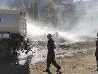 Belediye ekibinde yangına anında müdahale