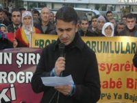 Hakkari'de roboski katliamı protestu