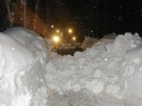 Çobanpınır'da karla mücadele