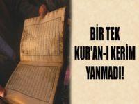 Kur'an-ı Kerim yanmadı
