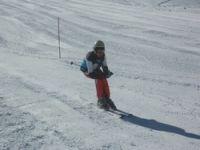 2800 rakımda kayak yarışması