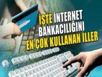 internet bankacılığını kullanan iller