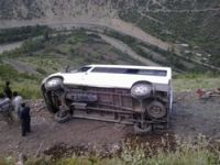 Yayla yolunda kaza 10 yaralı