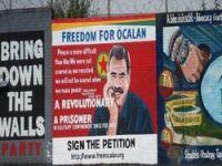 Belfast'taki barış duvarında Öcalan!