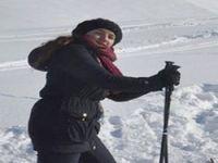Dershane öğrencilerinin kayak keyfi
