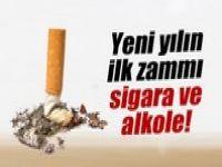 Yılın ilk zammı sigara ve alkole