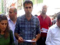 DBP Öcalan'a özgürlük yürüyüşü için bildiri dağıttı