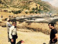 Çimenli köyünde korkutan yangın