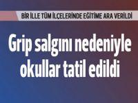 """Osmaniye'de eğitime """"grip engeli"""""""