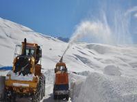 Köylerdeki karla mücadele sürüyor