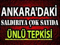 Ankara'daki katliama çok sayıda Ünlü tepkisi