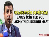 Demirtaş: Barış için tek yol AKP'nin durdurulması