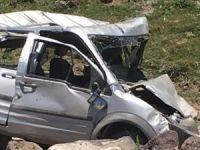 Düğün konvoyu kaza yaptı 20 yaralı