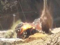 Hakkari kırsalında bomba yüklü araç imha edildi!