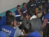 Belediye, TEDAŞ çalışanları yemekte buluştu