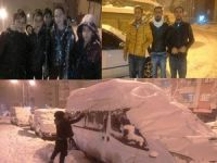 Hakkarili çocukların kar sevinci!