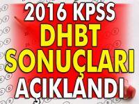 KPSS DHBT sonuçları açıklandı!