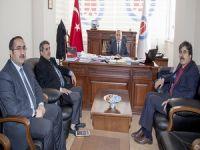 AK Parti İl  Başkanı Fırat'tan Rektör Pakiş'e ziyaret