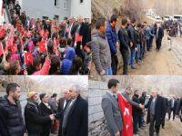 Vali Toprak Durankaya'da Türk bayrakları ile karşılandı