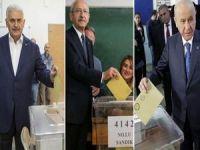 Yıldırım, Bahçeli ve Kılıçdaroğlu oylarını kullandı!