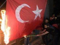 Ermenistan bayrağımızı yaktı!