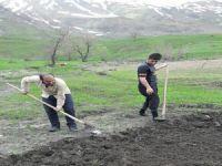 Hakkarili çiftçileri ekim telaşı sardı!