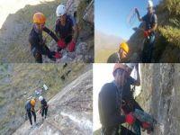 Hakkari dağcıları kaya tırmanış rotaları açtılar!
