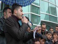 Hakkari'de ÖSYM protestosu