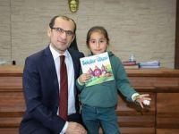 Minik öğrenciler Kaymakam Ayca'yı ziyaret etti