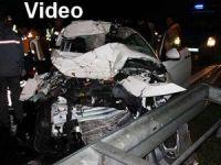 Feci trafik kazası 3 ölü, 1 yaralı