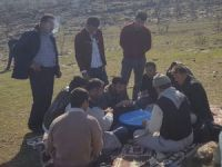 Sınır'da kış ortasında piknik keyfi