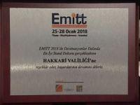 EMİTT 2018 fuarından Hakkari'ye en iyi stand  ödülü