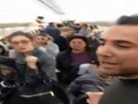 Yolcular uçakta sinir krizi geçirdi!