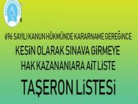 Hakkari belediyesi kesin taşeron sınav listesi