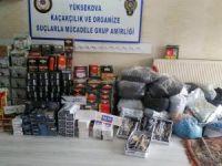 80 kilogram kaçak nargile tütünü ele geçirildi.