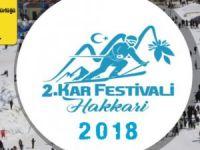 Hakkari'de 2.kar festivali heyecanı
